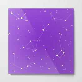 Ultra Violet Night Sky Metal Print