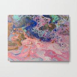 Flamingos by the Sea Metal Print