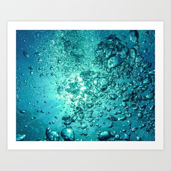 Thirsty Sprite Bubble Art Print