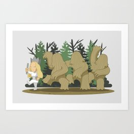 Where The Wild Clumps Are Art Print
