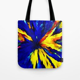 blue yellow Tote Bag
