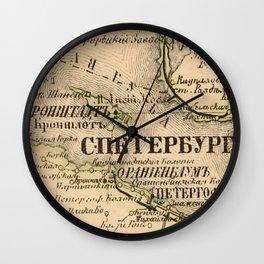 Maps Wall Clock