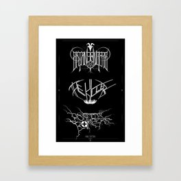 The Best Ever Death Metal Bands Out Of Denton Framed Art Print
