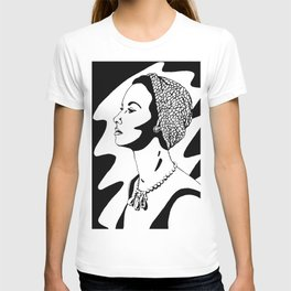 50's Lady (black and white version) T-shirt