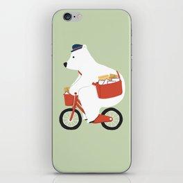 Polar bear postal express iPhone Skin