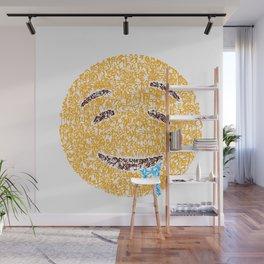Emoji Art Calligraphy :Drooling face Wall Mural