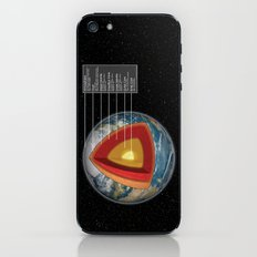 Earth - Cross Section iPhone & iPod Skin