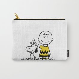 a boy & has dog Carry-All Pouch