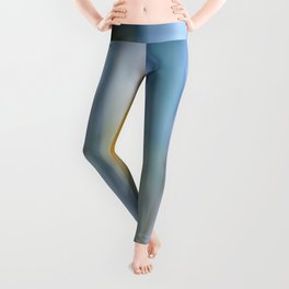 Buttery Lines (Abstract Blue) Leggings