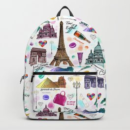 Voyage à Paris (Watercolor) Backpack