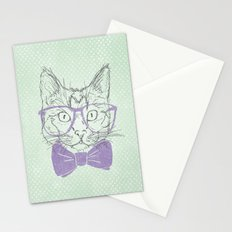 Hipster Kitten Stationery Cards