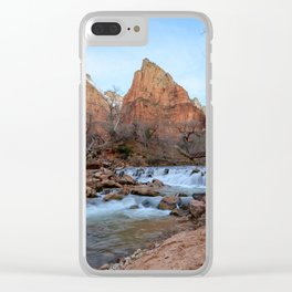Virgin_River Falls - Zion Court Clear iPhone Case
