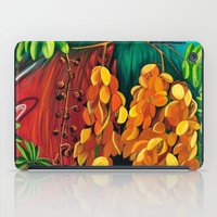 """cassia beck iPad Cases featuring """"Cassia"""", Fine Art Print, Oil painting, flowers painting, yellow, floral wall decor, flowers art by Adriana Calcines"""