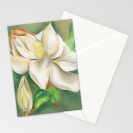 Southern Magnolia Blossom and Bud Stationery Cards