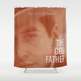 The Godfather, Alternative Movie Poster, Al Pacino, Marlon Brando, classic film Shower Curtain