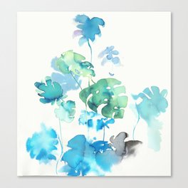 Tropical leaves, (collab Dylan Silva!) Canvas Print