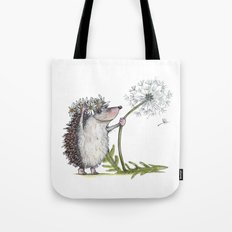 Hedgehog & Dandelion Tote Bag
