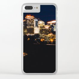 Panoramic View Of Rosslyn Virginia Clear iPhone Case
