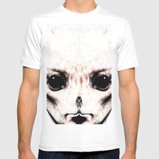 Visitor From Beyond MEDIUM White Mens Fitted Tee
