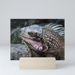 Portrait of an Iguana Mini Art Print