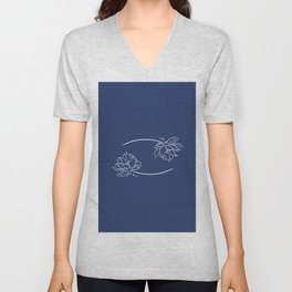 Cancer's Water Lilies Unisex V-Neck