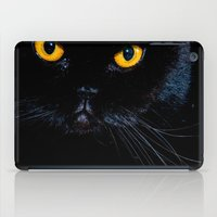 black cat iPad Cases featuring Black cat by Vlad&Lyubov