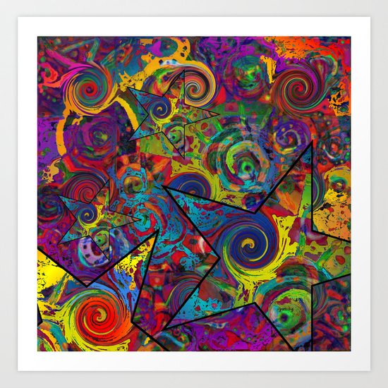 Star Collage Art Print