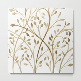 Mocha Branches Metal Print