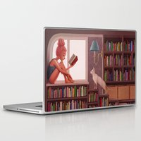 bookworm Laptop & iPad Skins featuring Bookworm by Joifish