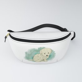 Puppy like a plush toy with colours splash Fanny Pack