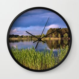 After Rain Poetry Wall Clock