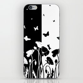 POPPIES AND BUTTERFLIES iPhone Skin