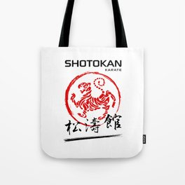 Shotokan Karate Tiger Tote Bag