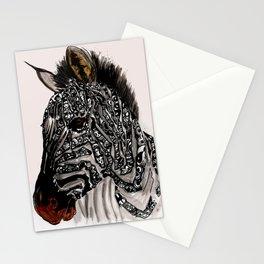 Zebra doodle Stationery Cards