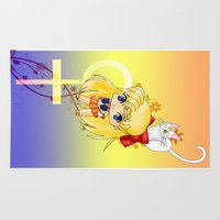 sailor venus Area & Throw Rugs featuring Sailor Venus by artwaste