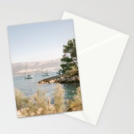 Marjan hill Split | Croatia ocean sea travel photography | Sailing Yacht  Stationery Cards