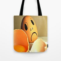 eggs Tote Bags featuring eggs by  Agostino Lo Coco