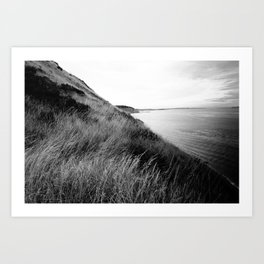 Black and White Island Ocean Art Print