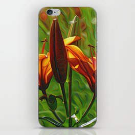Lilly, Iris, DeepDream style iPhone Skin