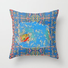 Portrait of a Mediterranean Frog Prince Throw Pillow