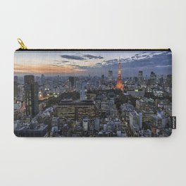 Tokyo Tower Cityscape at Dusk Carry-All Pouch