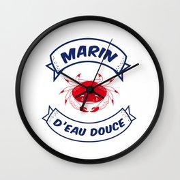 Crabe - Marin d'Eau Douce Wall Clock