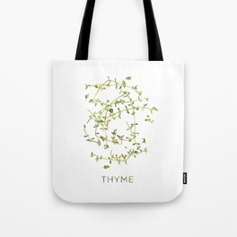 Watercolor Thyme Artwork Tote Bag