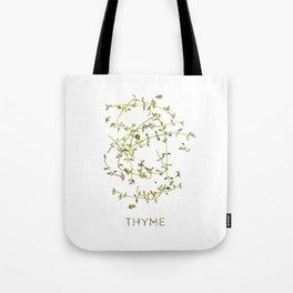 Watercolor Thyme Artwork Tote Bag
