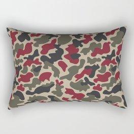 CUSTOM ARMY & BURGUNDY CAMO 5 Rectangular Pillow