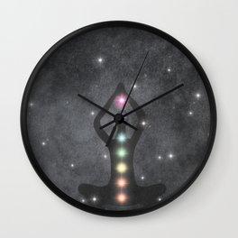 My Chakras Are A Rainbow Wall Clock