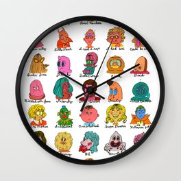Feelings Revisited Wall Clock