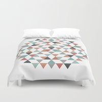 hexagon Duvet Covers featuring Hexagon by Pavel Saksin