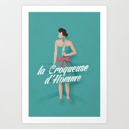 French murder - Vintage Art Print