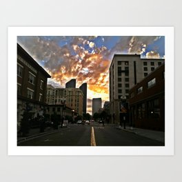 Fire in the Sky, SD, 2011 Art Print